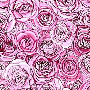 pink roses // pink floral // ranunculus floral