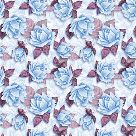 Blue roses fabric by gribanessa on Spoonflower - custom fabric