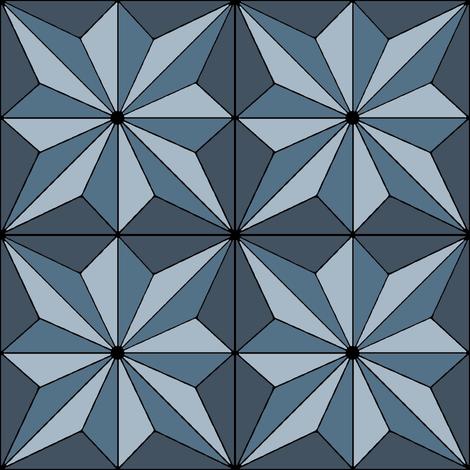 art deco star motif fabric by farreystudio on Spoonflower - custom fabric