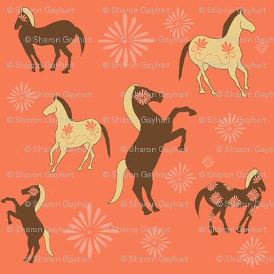 Floral Horses