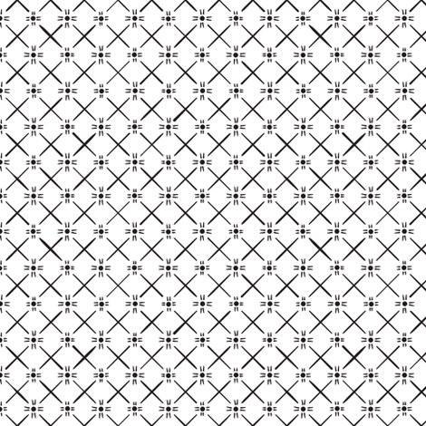 Star Weave in Black fabric by wildnotions on Spoonflower - custom fabric
