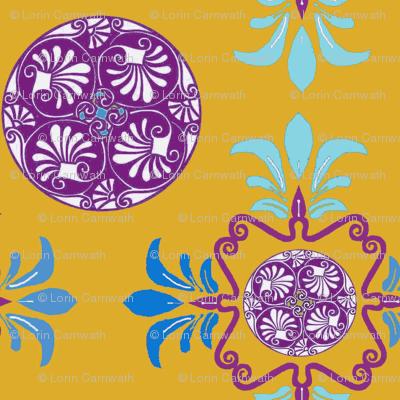 Greek patterns- Gold-