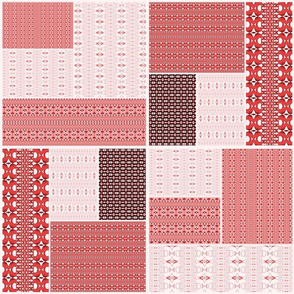 Red Strikke Cheater Quilt
