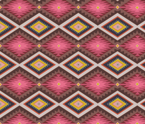 Kilim Geometric  fabric by zoecharlotte on Spoonflower - custom fabric