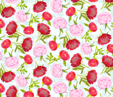 PeonyBasicRepeatLg fabric by blairfully_made on Spoonflower - custom fabric