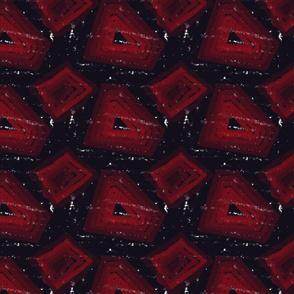 KIlim rug texture black red rug
