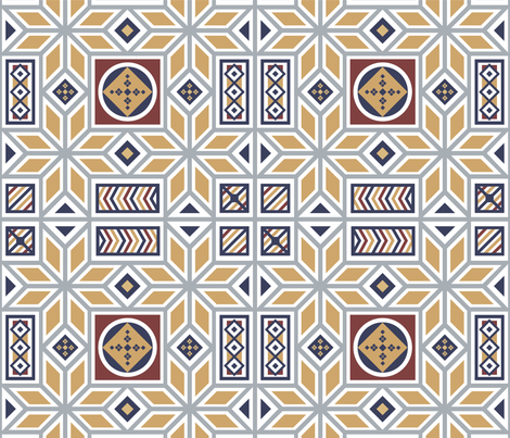 mosaic fabric by ngurgan on Spoonflower - custom fabric