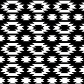 Aztec white on black