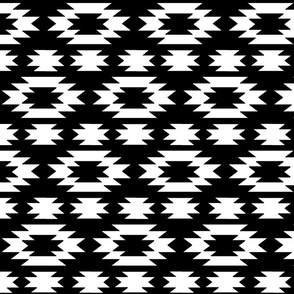 Aztec white on black