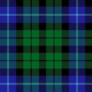 "MacIntyre green and blue tartan, 6"""