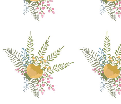 Country Floral Spray fabric by sew_delightful on Spoonflower - custom fabric