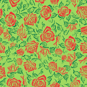 rose bed green