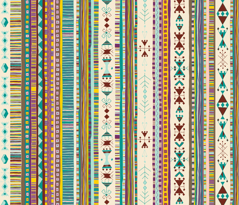 Kilim Me Softly fabric by seesawboomerang on Spoonflower - custom fabric