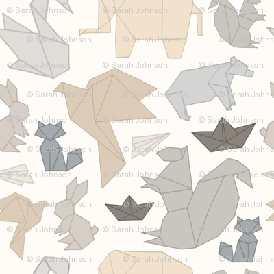 Neutral Toned Origami