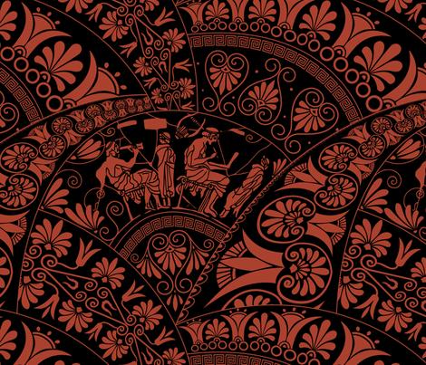 Greek art fabric by olgart on Spoonflower - custom fabric
