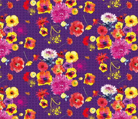 Purple pomp fabric by freudenwerkstatt on Spoonflower - custom fabric