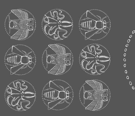 Greek Coin Animals fabric by monsteradeliciosamia on Spoonflower - custom fabric