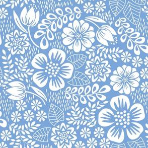April Flowers Blue