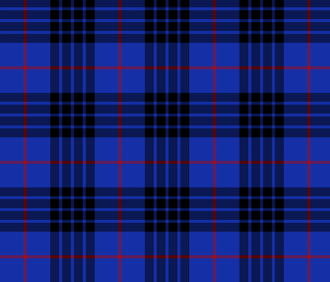 "Blue MacKay or Morgan tartan, 6"" bright fabric by weavingmajor on Spoonflower - custom fabric"