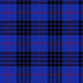 "Blue MacKay or Morgan tartan, 3"" bright"