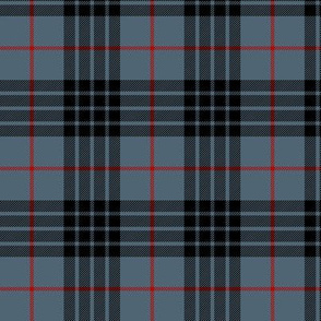 "Blue MacKay or Morgan tartan, 3"" weathered"