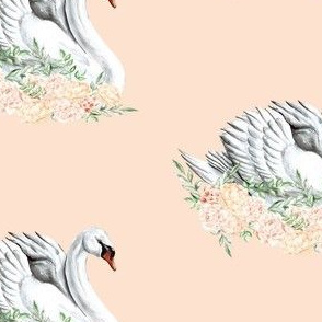 Swan on a Bed of Roses