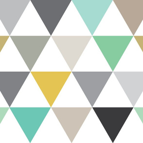 large triangles grey green gold