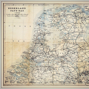 Holland map, antique, FQ