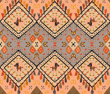 donkey kilim fabric by gomboc on Spoonflower - custom fabric