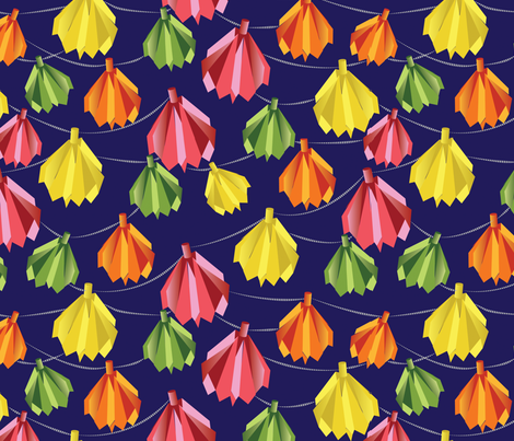 Origami Party Lights fabric by colour_angel_by_kv on Spoonflower - custom fabric