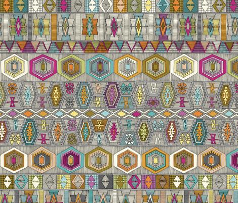 kilim pembe fabric by scrummy on Spoonflower - custom fabric