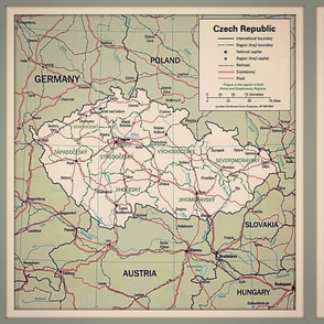 Czech Republic map, FQ