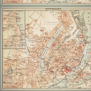 Copenhagen map, Denmark, FQ
