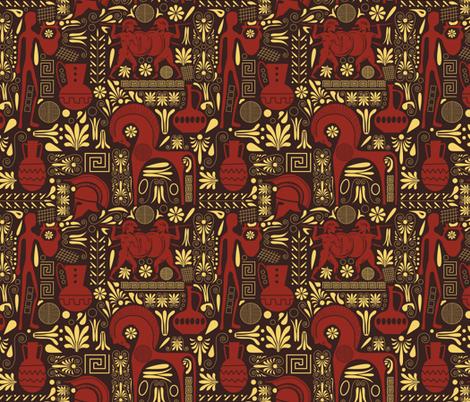 Greek artifacts fabric by diseminger on Spoonflower - custom fabric