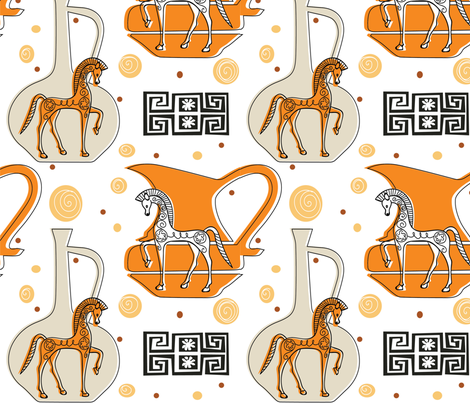 greek art pattern1 fabric by annipe on Spoonflower - custom fabric