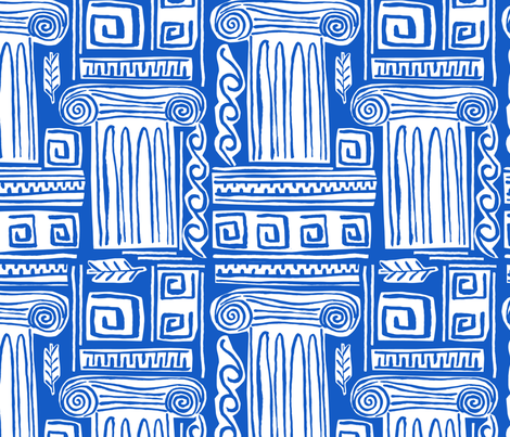Iconic Greek Pattern-01 fabric by statement_goods on Spoonflower - custom fabric