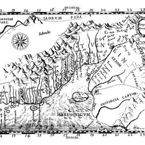 "1651 Map of Vietnam (42"" W)"
