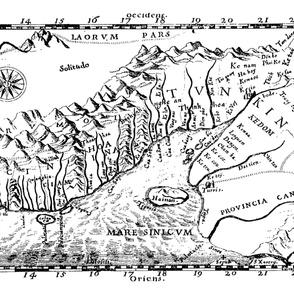 "1651 Map of Vietnam (54"" W)"