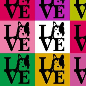 Sheltie Collie Dog Love Pop Art
