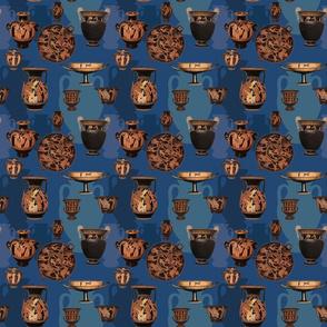 Greek Ceramics on Blue