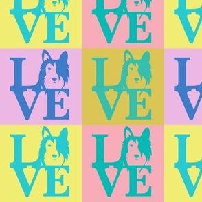 Sheltie Dog Love Spring