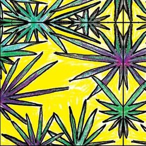 Yellow Leafy Tile