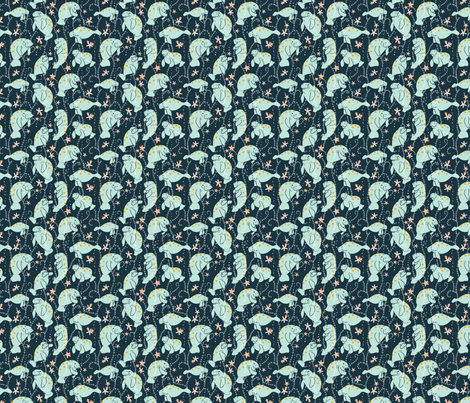 Oh the Hue-Manatee  Medium fabric by hey_there_louise on Spoonflower - custom fabric