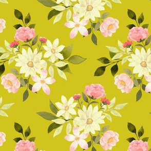 Etta Floral on gold