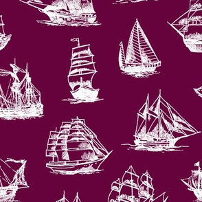Sailing Ships on Tyrian Purple // Large