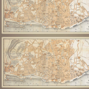Lisbon map, Portugal, FQ