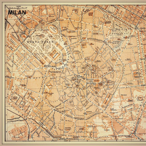 Milan map, Italy, FQ