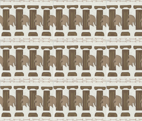 Helmets and Columns  fabric by dizzybeedesigns on Spoonflower - custom fabric