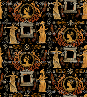 Golden Greek Goddess Trio