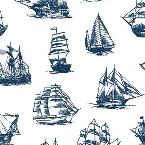 Navy Sailing Ships // Large